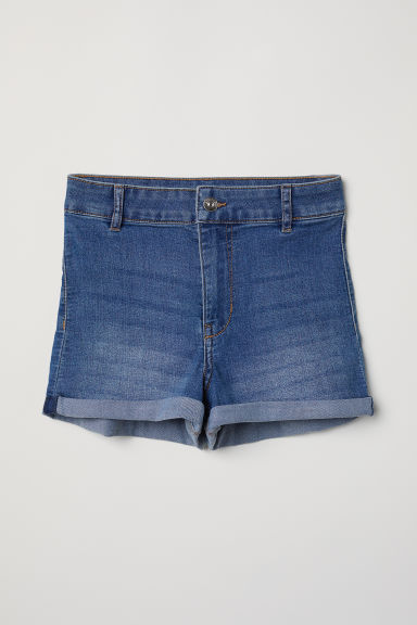 Twill shorts High Waist - Light denim blue - Ladies | H&M