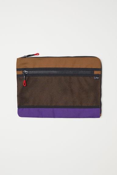 Laptop case - Light brown/Multicoloured - Men | H&M IE