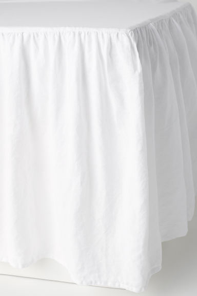 Washed linen valance - White - Home All | H&M GB