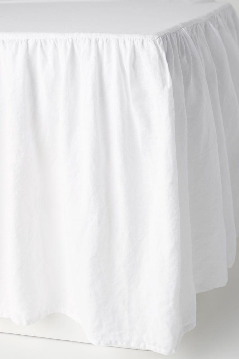 Washed linen valance - White - Home All | H&M CN