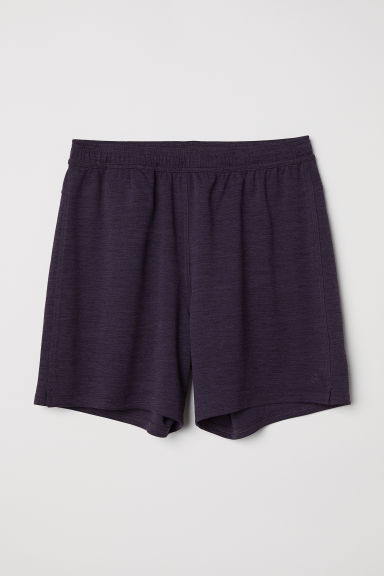 Sports shorts - Dark purple marl - Men | H&M CN