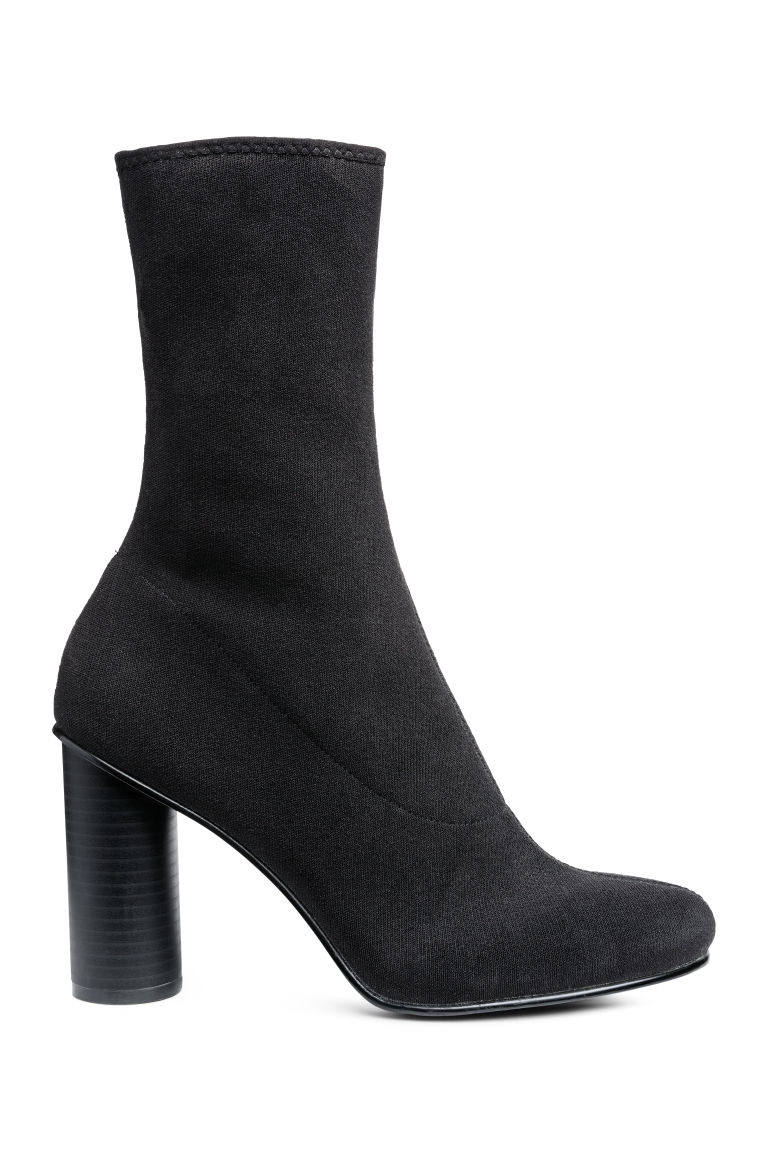 Fully-fashioned ankle boots - Black -  | H&M CN