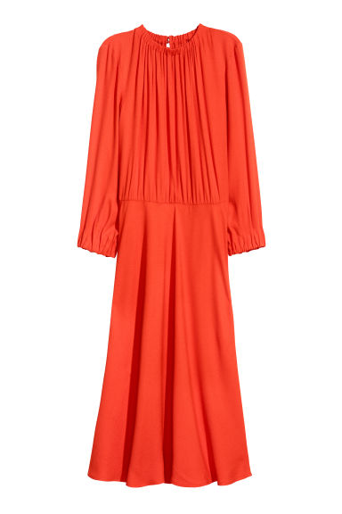 Crêpe dress - Bright red - Ladies | H&M