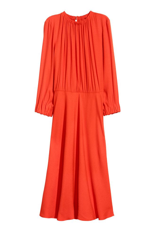 77edbda5ae97 Krepové šaty - Jasně červená - ŽENY
