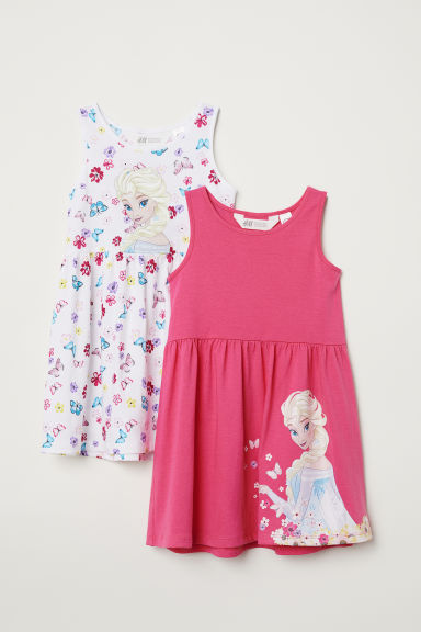 2-pack jersey dresses - Pink/Frozen - Kids | H&M