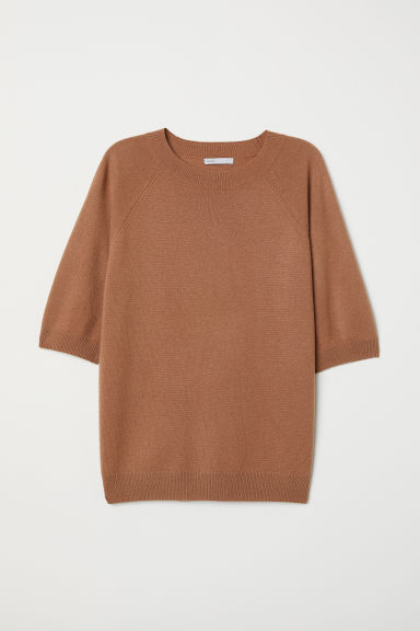 2a71984a Short-sleeved Cashmere Sweater - Camel - Ladies | H&M CA