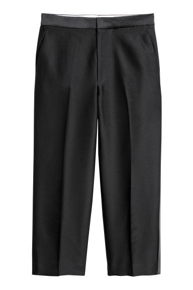 Wool-blend suit trousers - Black -  | H&M