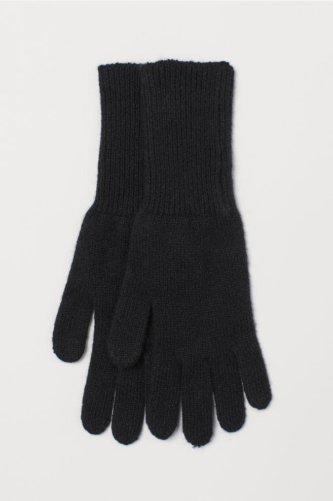 Kašmírové rukavice - Černá - ŽENY  b2a798a5c7