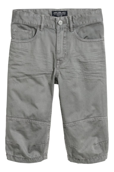 Generous Fit Clamdiggers - Dark grey - Kids | H&M CN