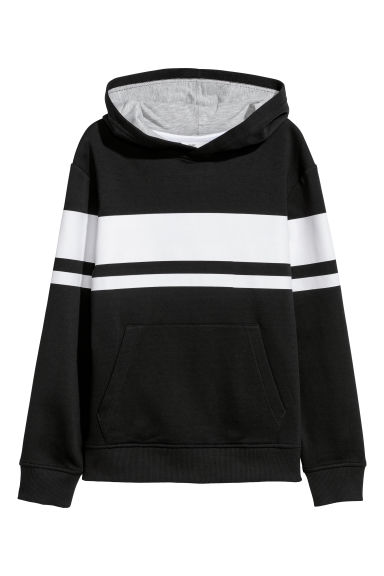 Hooded top - Black/White - Kids | H&M CN