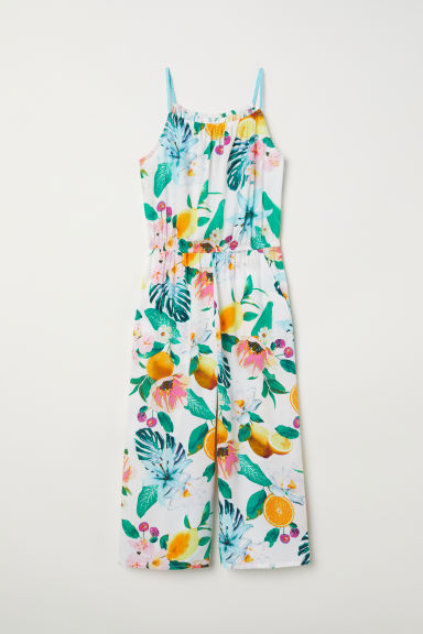 Patterned jumpsuit - Natural white/Patterned - Kids | H&M