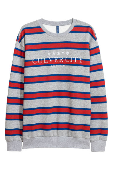 Camisola sweat com motivo - Cinzento mesclado/Los Angeles -  | H&M PT