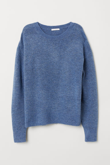 Knitted jumper - Blue marl - Ladies | H&M CN