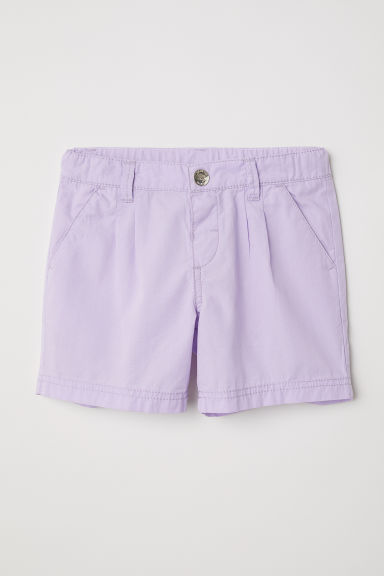 Cotton shorts - Light purple -  | H&M