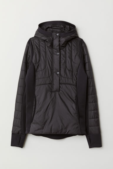 Outdoor anorak met kap - Zwart - DAMES | H&M BE