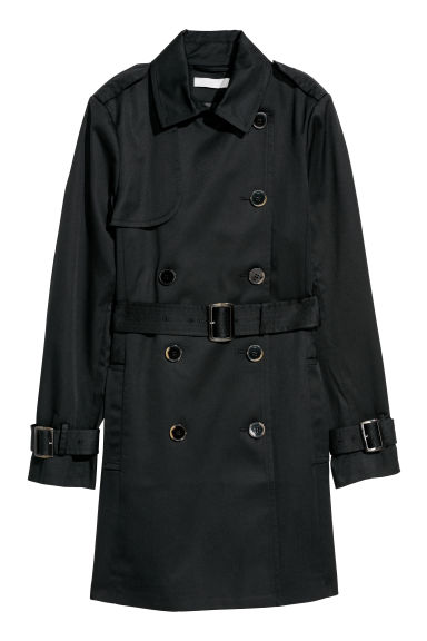 Trenchcoat - Zwart -  | H&M BE