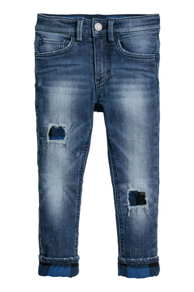 Skinny fit Lined Jeans - Donker denimblauw - KINDEREN | H&M BE