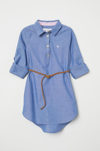 Shirt dress - Denim blue - Kids | H&M CN