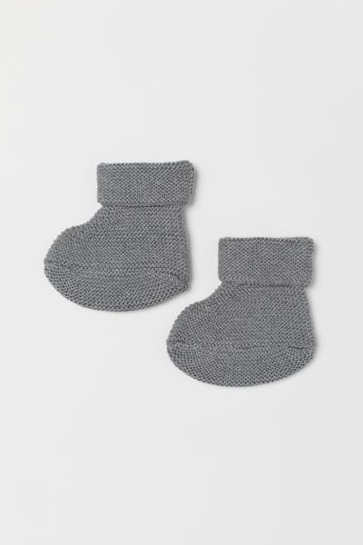H&M - Knitted bootees - 1