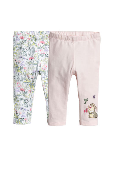 Leggings en jersey, lot de 2 - Rose clair/Bambi - ENFANT | H&M CH