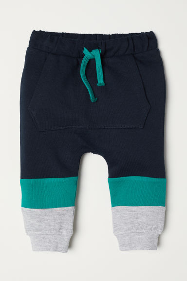 Joggers - Dark blue/Block-coloured - Kids | H&M