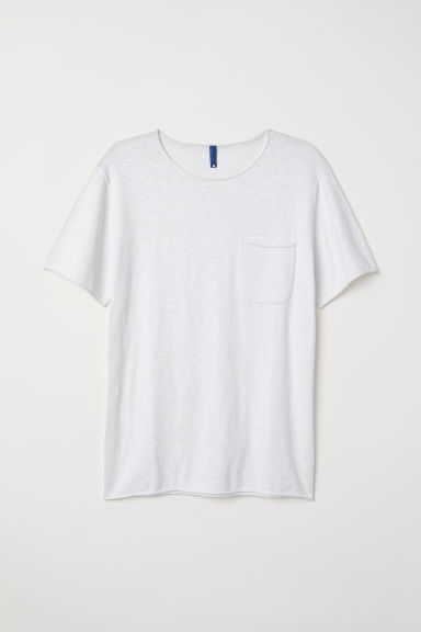 Fine-knit cotton T-shirt - White -  | H&M