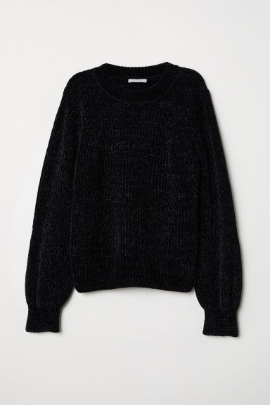 Chenille jumper - Black - Ladies | H&M