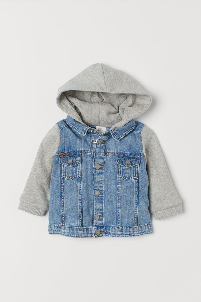 2f96b6fb83 Denim shirt jacket - Denim blue Grey marl - Kids