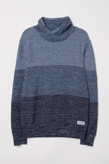 Knitted jumper - Blue-grey - Kids | H&M CN