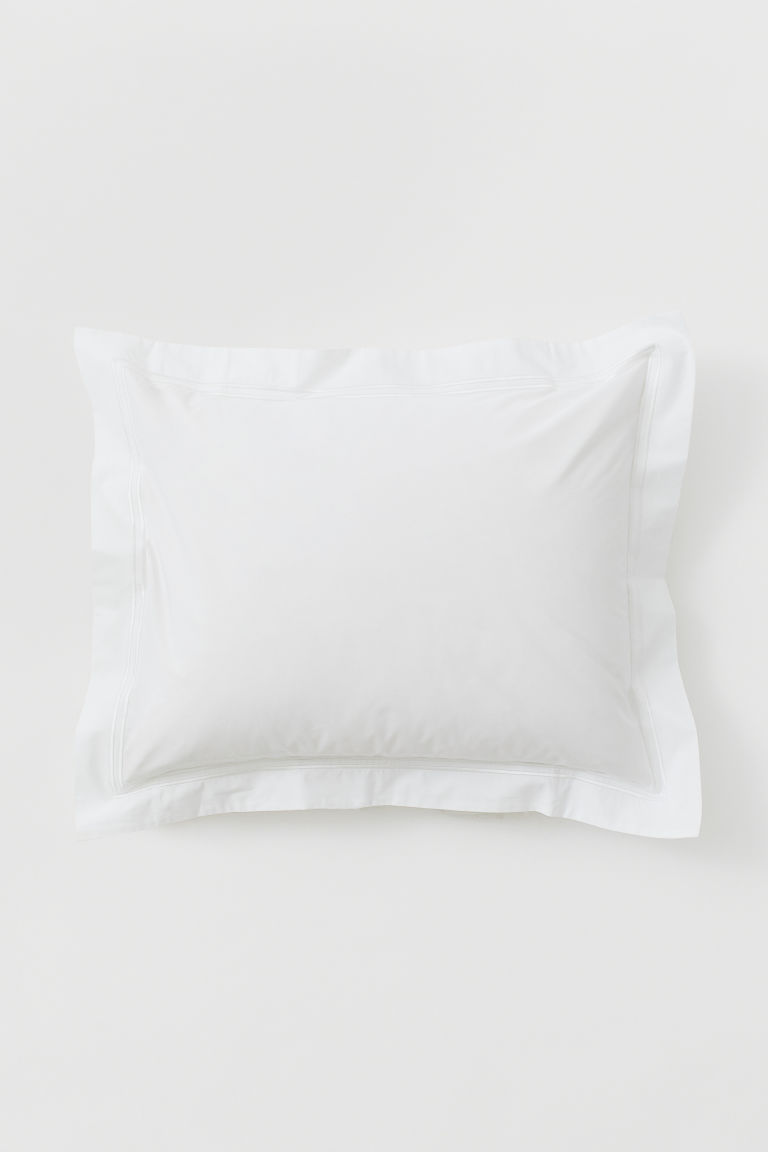 Taie d'oreiller en percale - Blanc - Home All | H&M CA