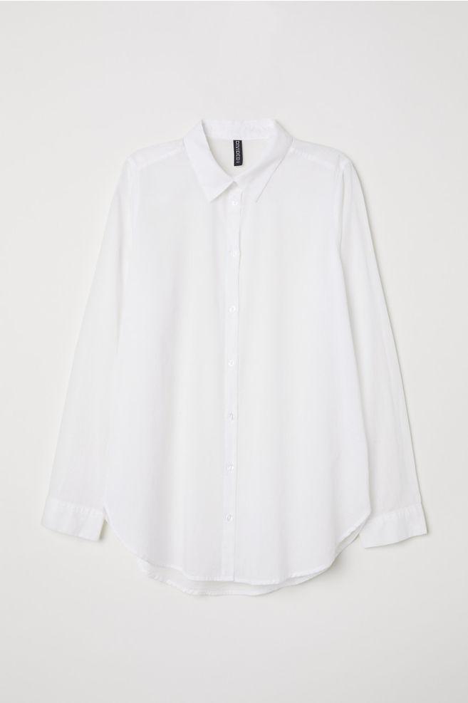 d59229135a8fcc Cotton Shirt - White - Ladies | H&M ...