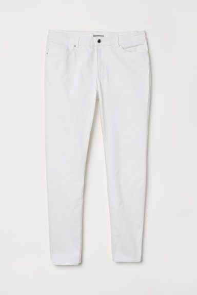 H&M+ Twill trousers - White - Ladies | H&M CN