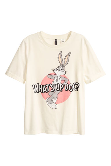 T-shirt con stampa - Bianco naturale/Looney Tunes - DONNA | H&M CH