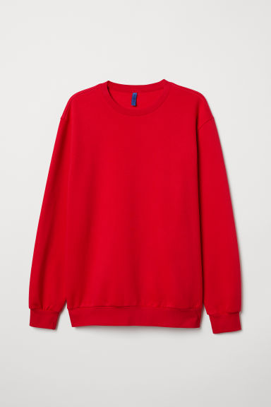 Sweat oversize - Rouge - HOMME | H&M FR