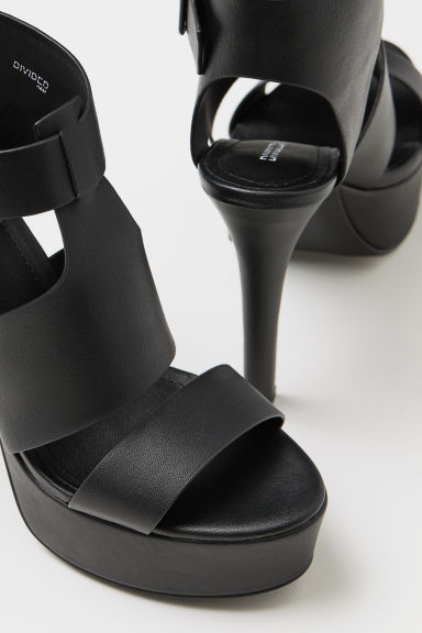 Platform sandals - Black - Ladies | H&M CN