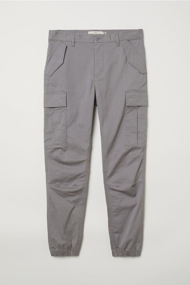 a907726da Cotton Twill Cargo Joggers - Gray - Men | H&M ...