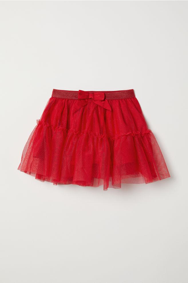 37397558 Tiulowa spódnica z brokatem