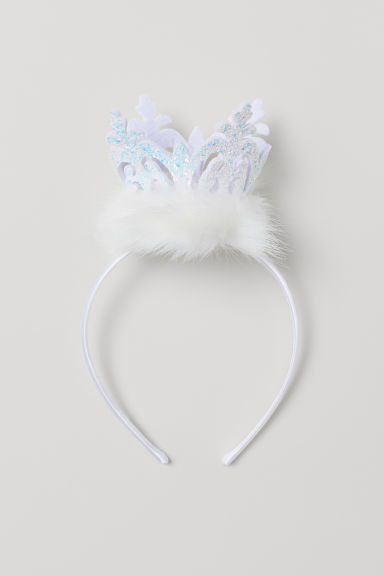 Alice band with a crown - White - Kids | H&M