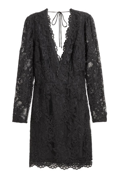 Lace dress - Black - Ladies | H&M CN