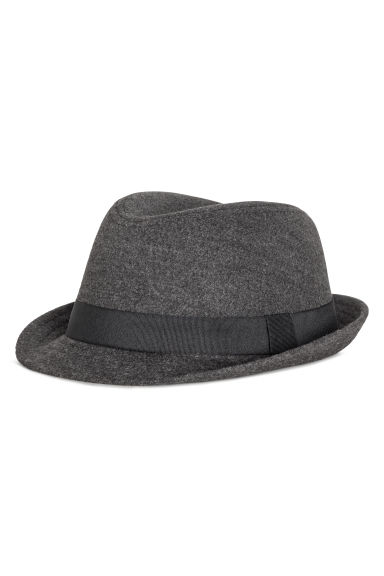Felted hat - Dark grey -  | H&M CN