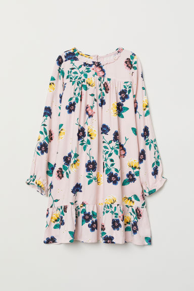 Patterned dress - Powder pink/Floral - Kids | H&M