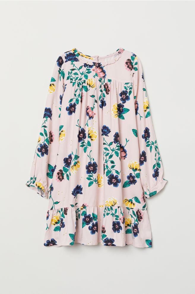 c124c11ae7 Wzorzysta sukienka - Pudroworóżowy Kwiaty - Dziecko