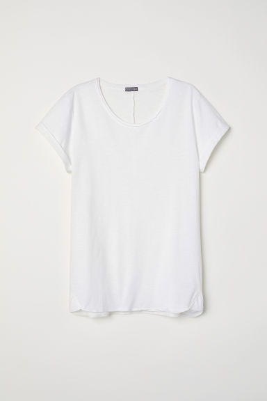 T-shirt in jersey flammé - Bianco - UOMO | H&M IT
