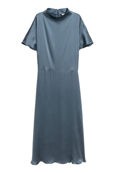 Silk dress - Turquoise - Ladies | H&M IE