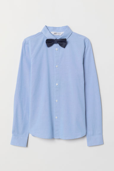 Shirt with a tie/bow tie - Light blue/Bow tie - Kids | H&M CN