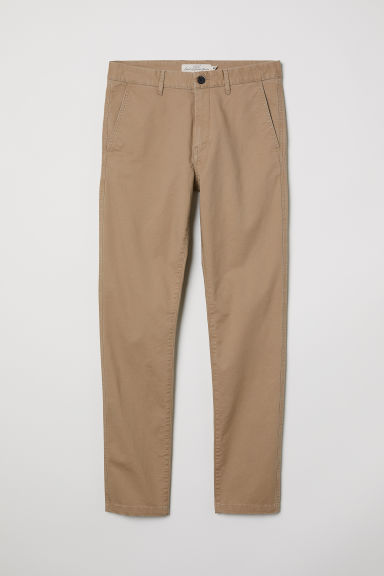Cotton chinos Skinny fit - Beige - Men | H&M