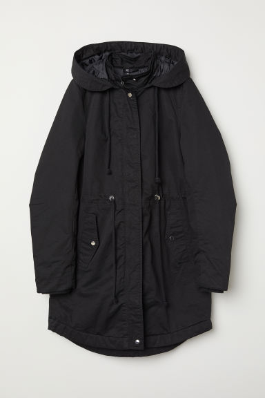 Padded parka - Black - Ladies | H&M CN