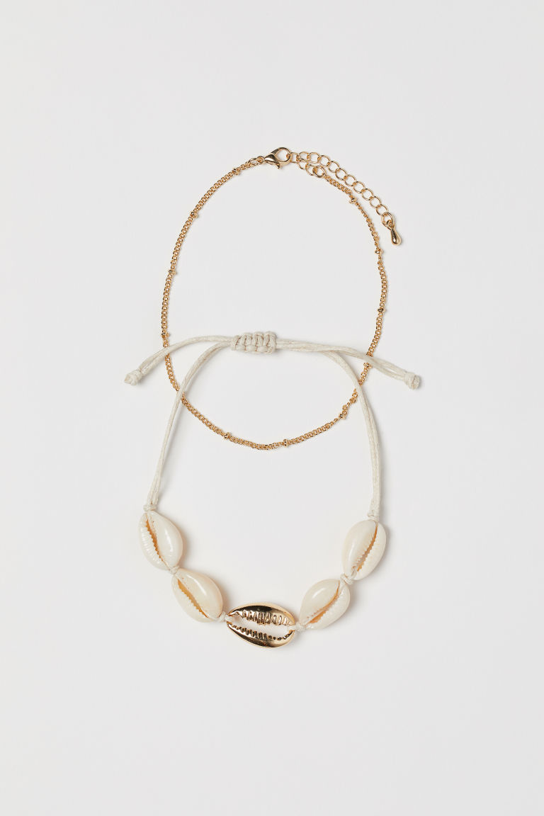 2-pack Anklets - Gold-colored - Ladies | H&M CA