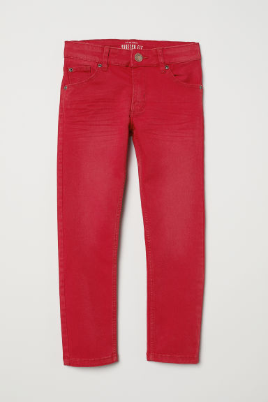 Stretch twill trousers - Red - Kids | H&M