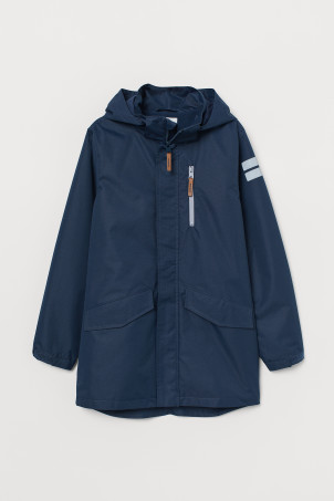 Water-repellent parka